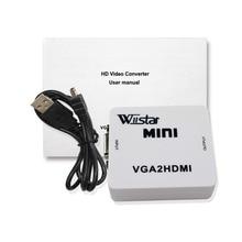 купить Wiistar VGA Converter Female VGA to HDMI Converter VGA HDMI Auido Video Adapter Full HD 1080P VGA2HDMI Free Shipping по цене 556.22 рублей