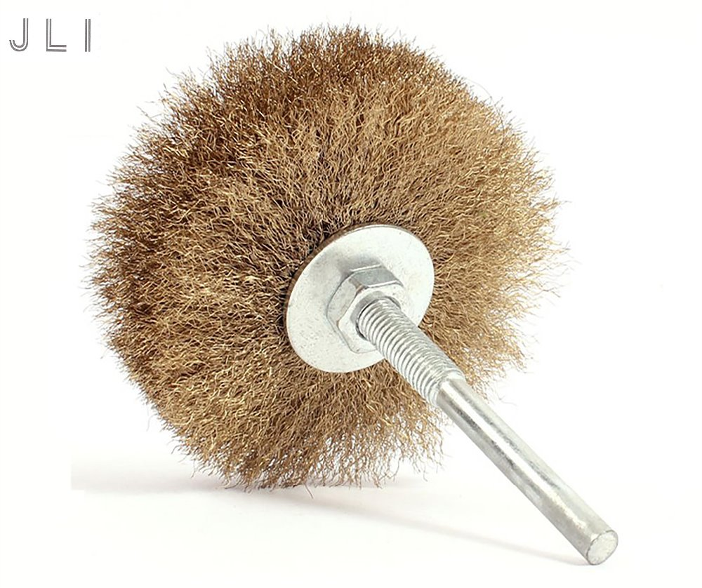 10x rotary mini tools steel wire wheel brushes cup rust cleaning - Jli 1pc 80 6mm Wire Rust Grinding Petiole Polished Steel Wire Brush Wheel For Rotary