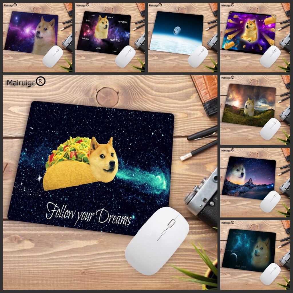 Mairuige Big Promotion Anime Dog Space Non-SlipTextured Surface Water Resistent Complete Rectangle Mouse Pad Gaming Pad 22X18CM