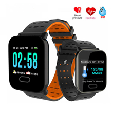 Smart Watch Waterproof Heart Rate Monitor Fitness Tracker Blood Pressure Smartwatch For Android IOS PK Q8 V6 S9 colmi color screen ip68 waterproof smart watch with heart rate blood pressure sleep monitor for android ios pk q8 k5 smartwatch