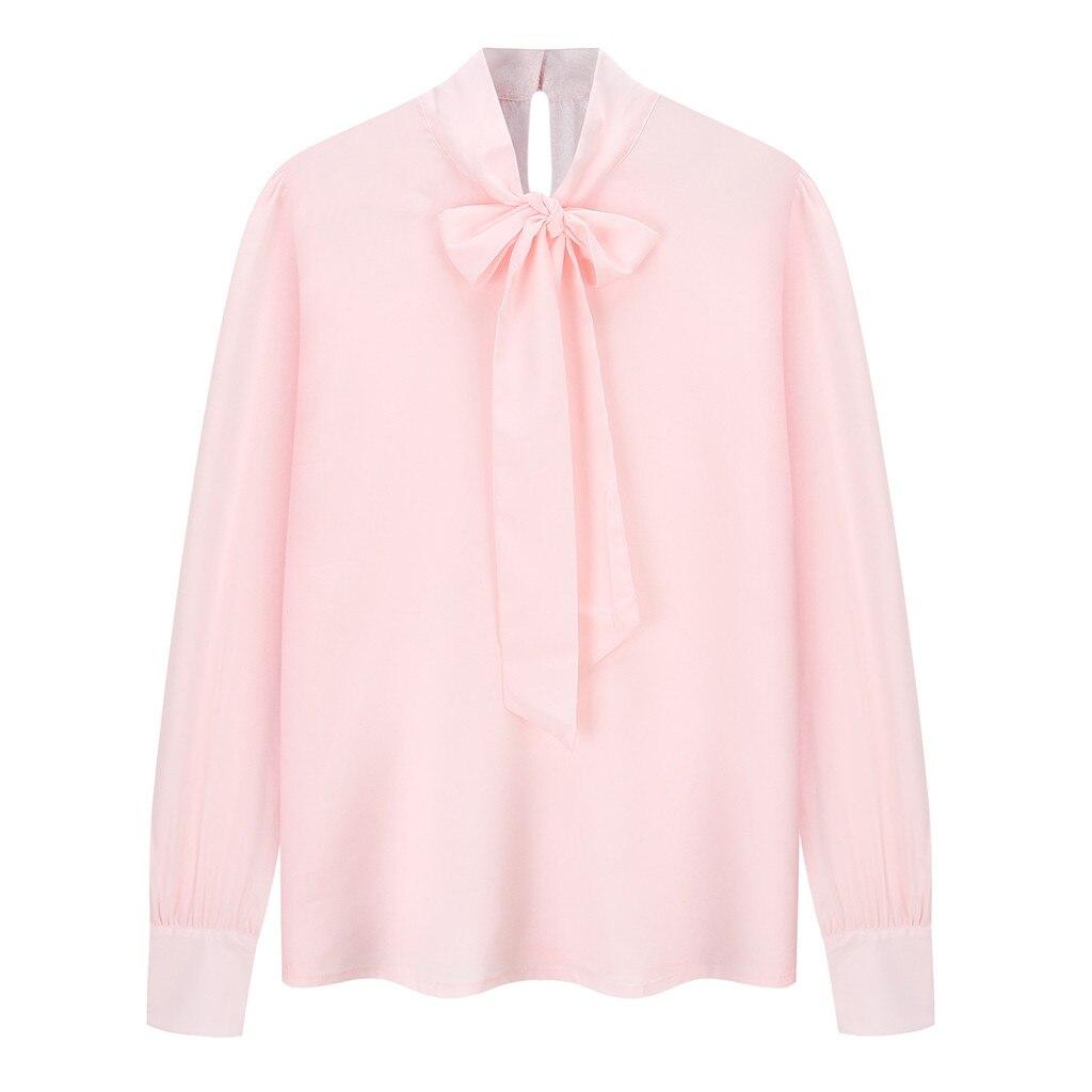 1d7bdf4b19 Soie Femme Mousseline Chemisier Femmes Pull Vetement 2019 Casual Plus La  Beige Top Rose Blouse Taille Chemises Chemise Manches À Longues ...