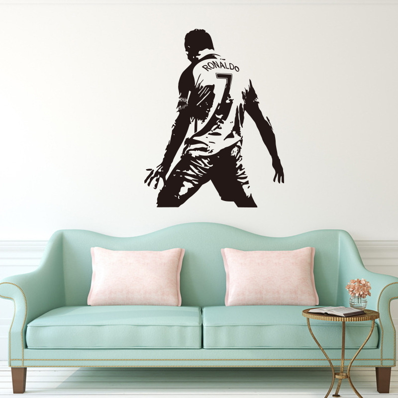 real madrid decal decor ronaldo art vinyl cristiano football wall