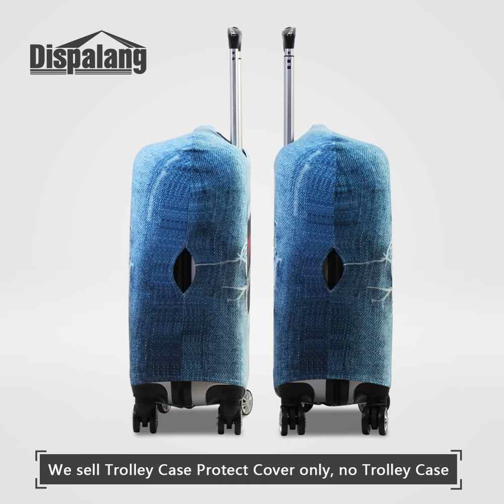 Dispalng Cartoon Animals Print Travel Luggage Covers Cute Duck Thick Protective Suitcase Cover Apply to 18-30 Inch Trolley Case