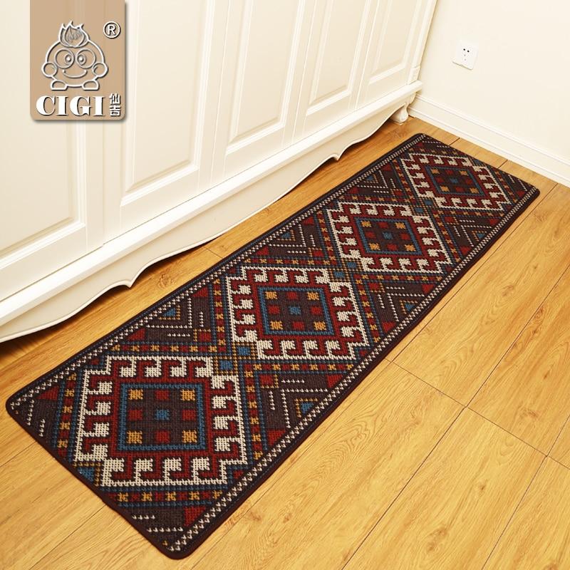 CIGI Folk Style Bedroom Carpet Bedside Living Room Table Sofa Floor Mat Entrace Doormat Home