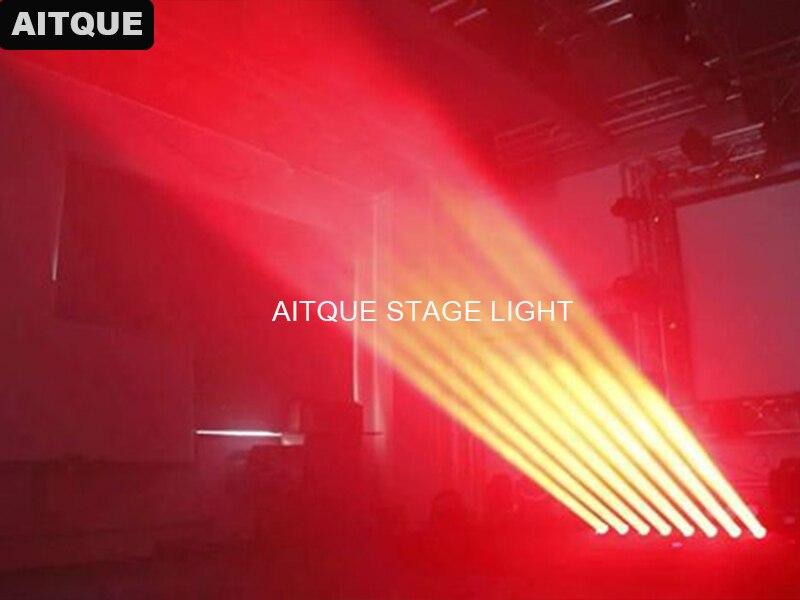 10 шт./лот Led бар rgbw 4в1 dmx движущаяся 8x10 Вт Светодиодная Пиксельная балка с движущимися стержнями световой сканер для диджеев луч света movinghead свет
