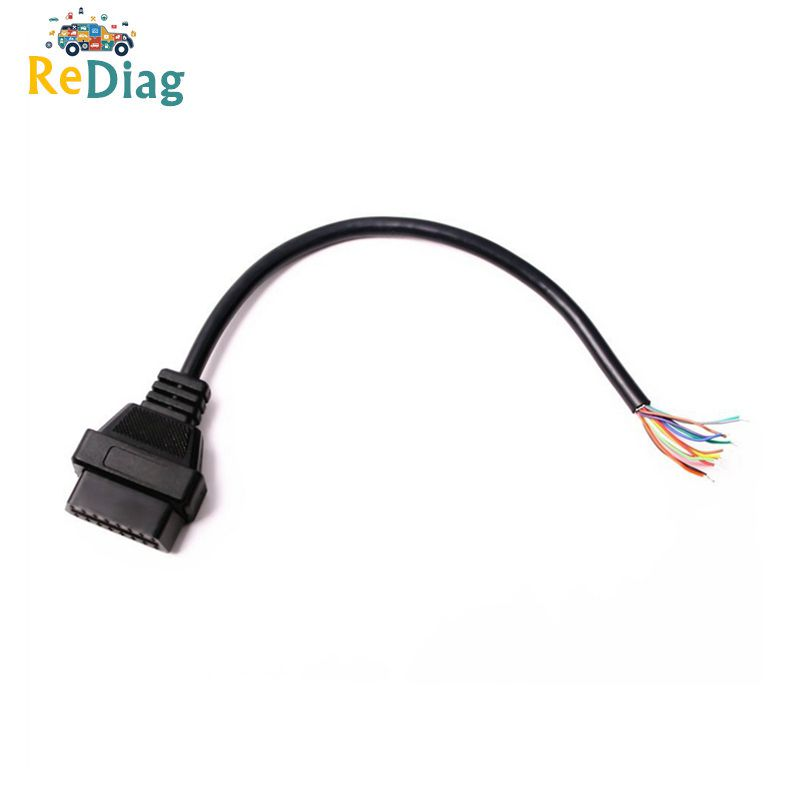 20pcs/lot Free Shipping OBD2 16Pin Female Connector To Opening OBD Cable OBDII OBD-ii 16 Pin OBD 2 Adaptor 30CM Length Hot Sale