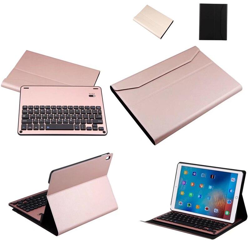 Removable Aluminum alloy Bluetooth font b Keyboard b font PU font b Case b font For