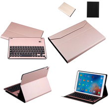 Removable Aluminum alloy Bluetooth Keyboard PU Case For Apple iPad Pro 10.5 inch Tablet PC for iPad Pro 10.5 keyboard case