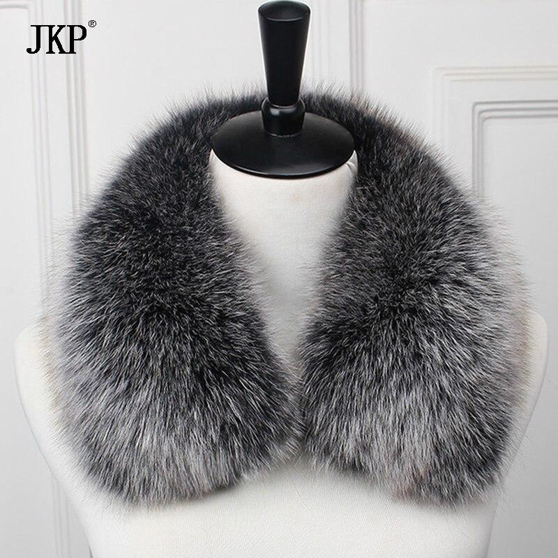 New 100% Real Fox Fur Collar 60cm Scarf Womens Genuine Natural Fox Fur Scarves Collar