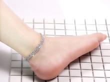 Three Row Crystal Rhinestone Sexy Ankle Chain