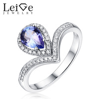 Lab Sapphire Ring Pear Cut 925 Sterling Silver Ring For Women Wedding And Engagement Ring Anniversary