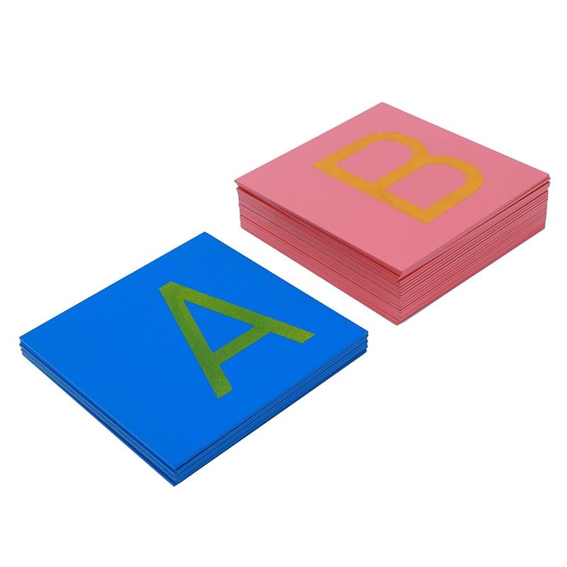 Bébé jouet Montessori papier de verre lettres majuscules impression avec boîte début préscolaire Brinquedos Juguetes - 5