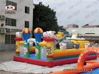 Happy Goat Inflatable Fun City Pleasant Goat Amusement Park For Sale