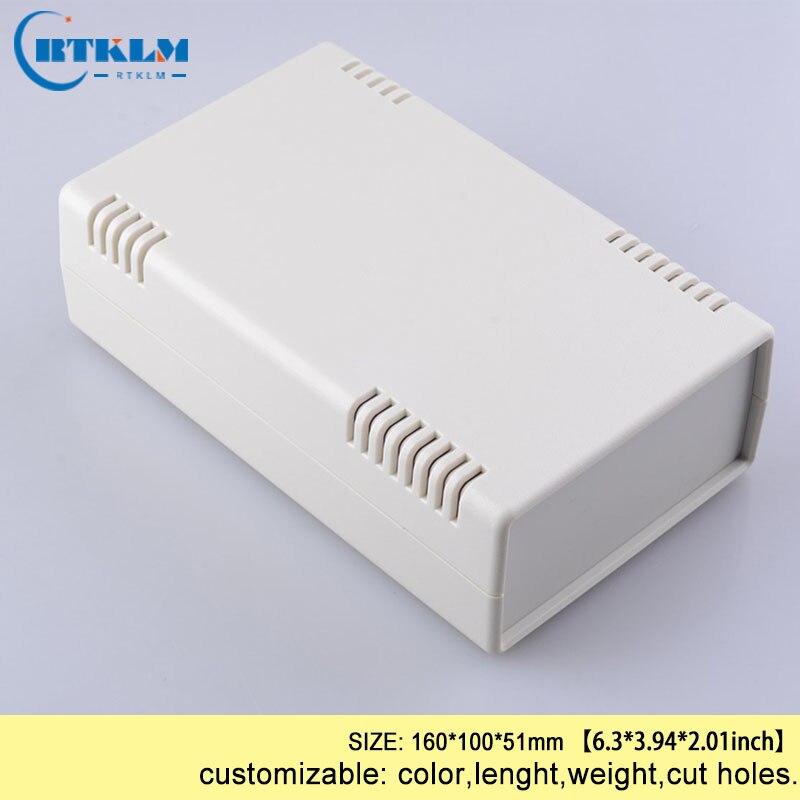 Plastic instrumen case DIY elektrische plastic project doos abs plastic behuizingen voor elektronica junction box 160*100*51mm 1 stuk