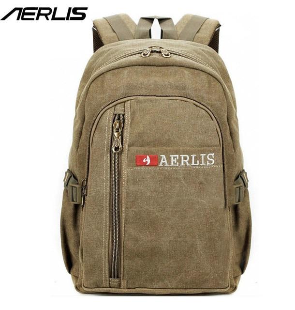 AERLIS Brand Мужчины Женщины Холст Рюкзак Повседневная Колледж Путешествия Рюкзак Для Мужчин Качество Ноутбук Сумки 507