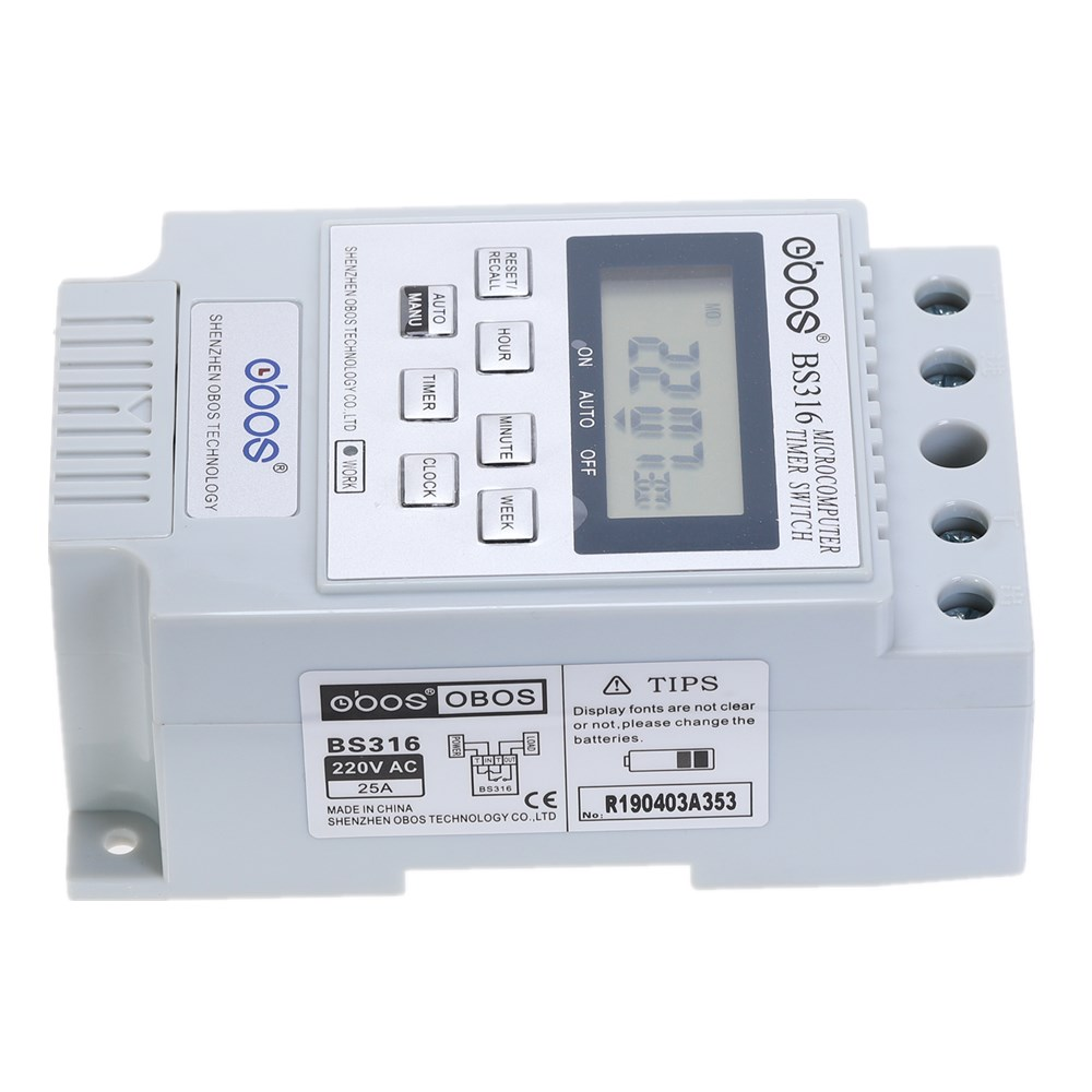Nuovo commutatore timer digitale a barra DIN KG316T AC 220 V 50 HZ / - Strumenti di misura - Fotografia 3