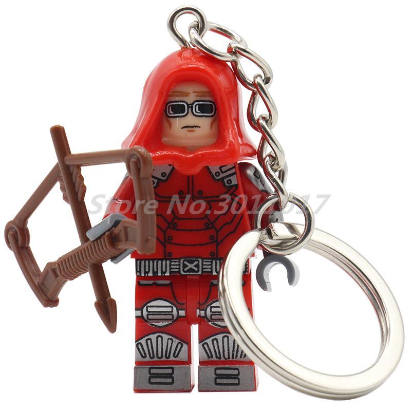 POGO Cannonball Super Heroes Keychain Single Sale Batman DC Marvel Building Block Set Key Chain Bricks Toys Gifts For Kids