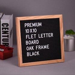 Sentiu Carta Placa do Sinal Mensagem Home Office Decor Placa Quadro de Carvalho Branco Símbolos Letras Números de Caracteres Saco 10 * 10