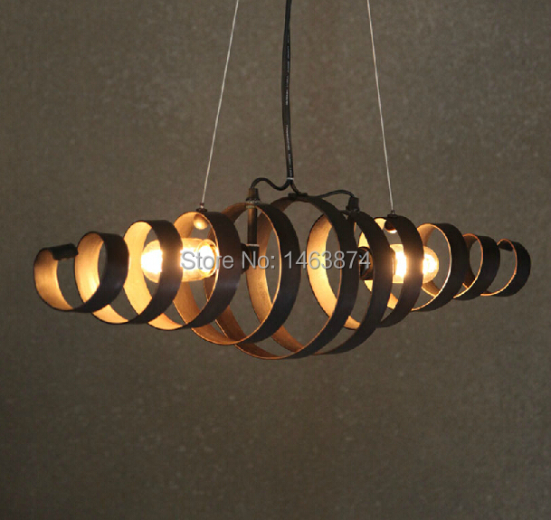 Industrial wind retro antique wrought iron chandelier lamp Cafe Restaurant personality, material: iron, E27, AC110-240V