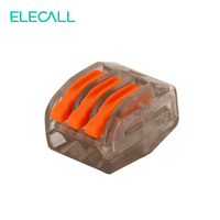 ELECALL 50pcs For VSE 413 Soft And Hard Wire Plug In Spring Clamp Universal Compact Connectors