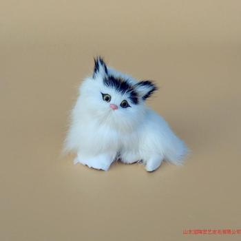 Simulation black cat polyethylene&furs cat model funny gift about11cmx8cm