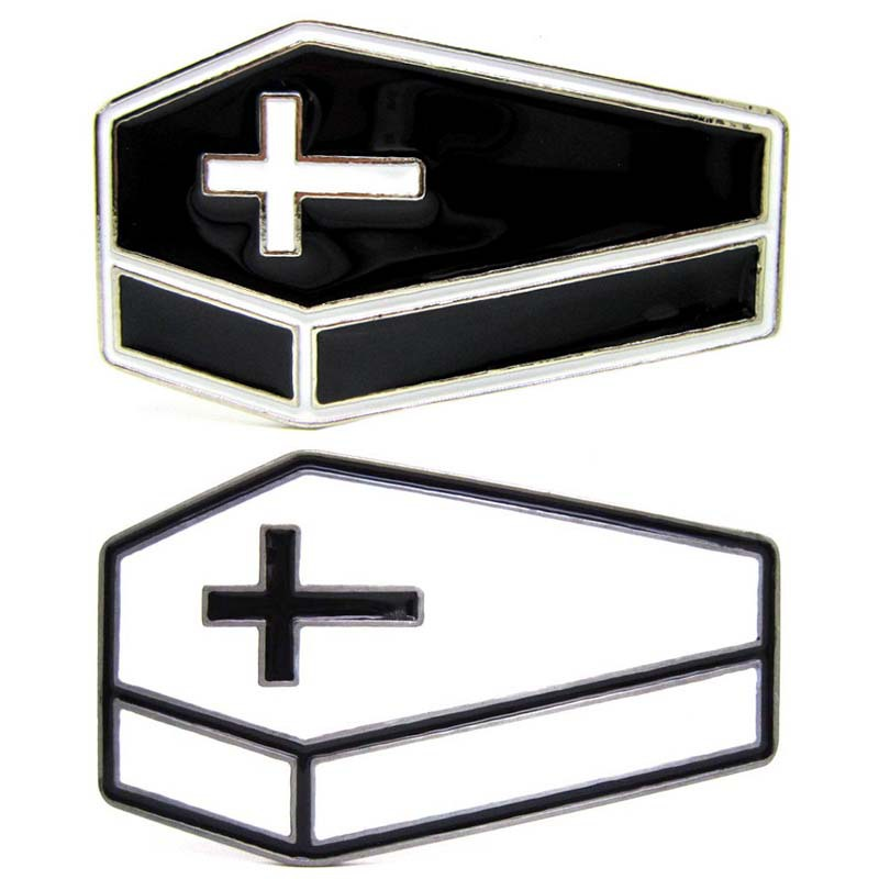 Vampire Coffin Belt Buckle Christian Cross Coffin Shape  Belt Buckle Belt Buckle Fashion