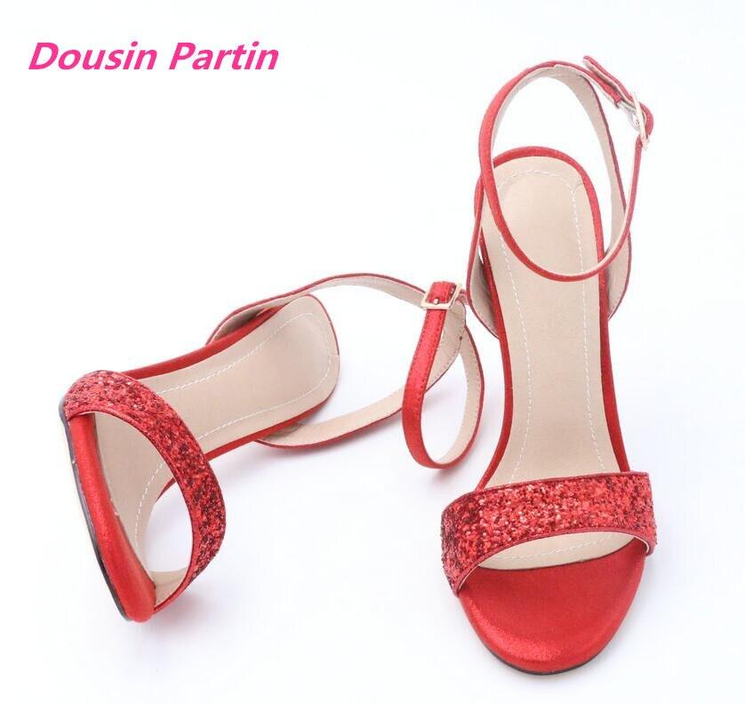 Dousin Partin Sexy Women Shoes Platform Thin High Heel All Match Women Sandals Party Shoes Wedding