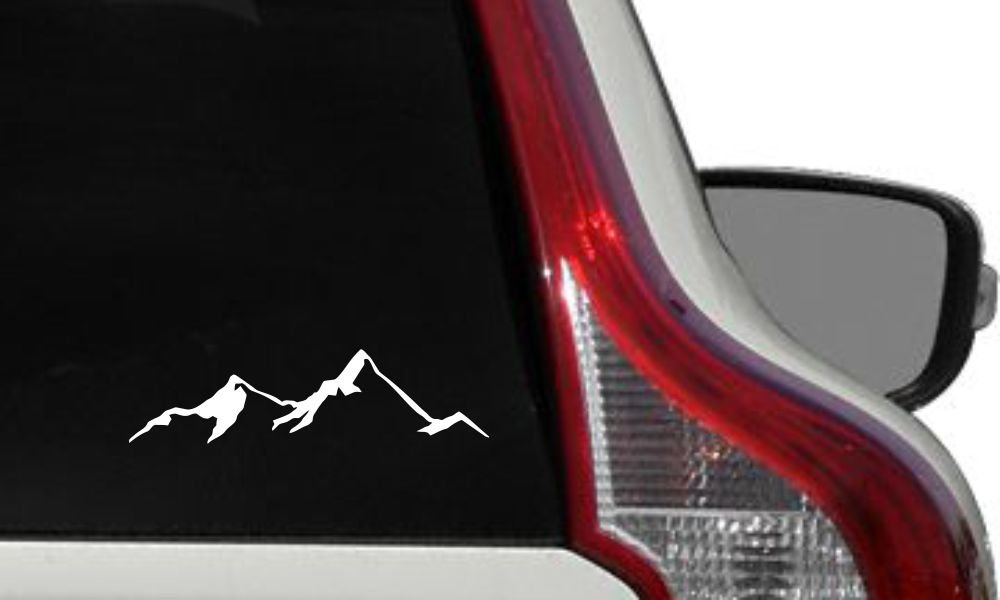 Mountain View Version 4 Car Vinyl Sticker Decal Bumper for Auto Cars Trucks Windshield Custom