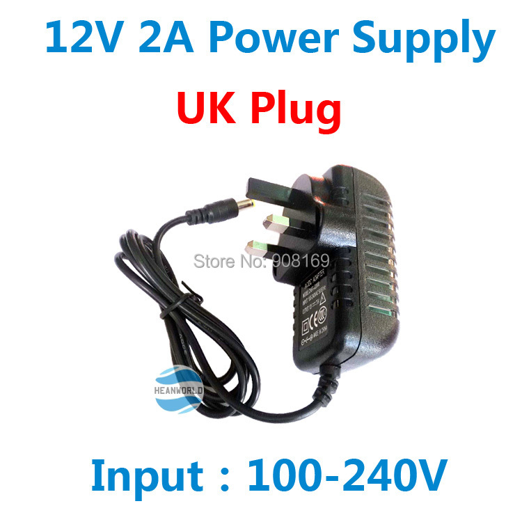 Hot 12V2A good quality Power supply adapter UK plug for CCTV camera IP camera and DVR,AC 100-240V to DC 12V2A Converter Adapter eu 12v 2a power supply ac 100 240v to dc adapter plug for cctv camera ip camera surveillance accessories