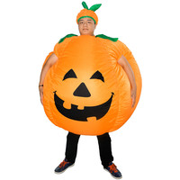 Halloween Novelty Gags Toys Pumpkin Shape Inflatable Props Toy Party Cosplay Costumes Prank Scenario Clothes Prop Kids Gift