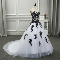 2018 New Listing Organza And Chiffon A Line Off The Shoulder Sweetheart Back Zipper Black Appliques