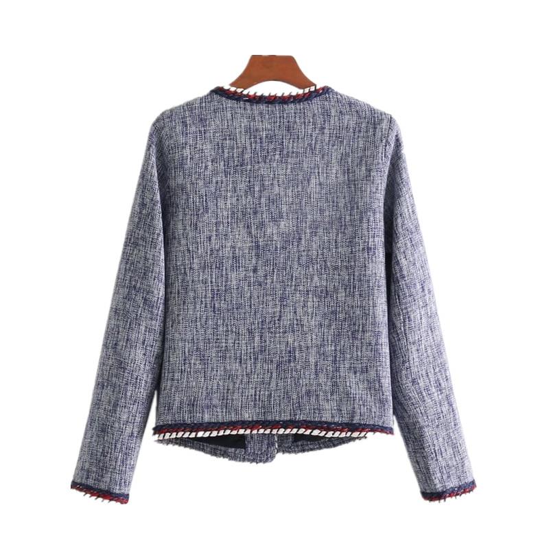 YSGJ New 2019 Autumn Fashion More Pocket Design Knitted Blazer Women Chaqueta Mujer Slim Fit Short Women Blazers And Jackets XF