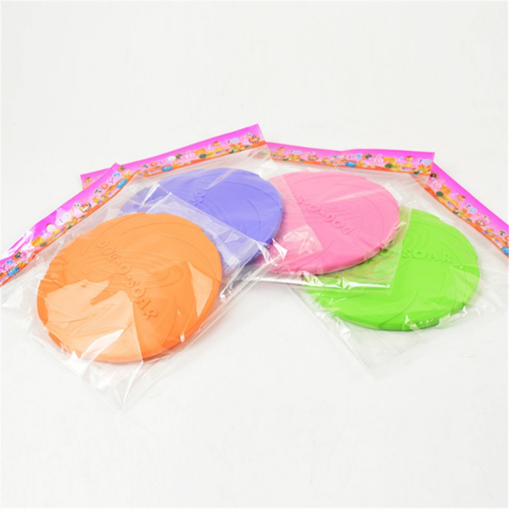 2018 Best selling Pet toys New Large Dog Flying Discs Trainning Puppy Toy Rubber Fetch Flying Disc Frisby 15cm 18cm 22cm 1
