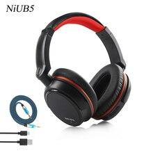 Super bass NiUB5 Проводной + Беспроводной Bluetooth Гарнитуры Микрофон Гарнитуры Headset 3.5 Аудио Кабель Для Мобильного Телефона Компьютер ТВ
