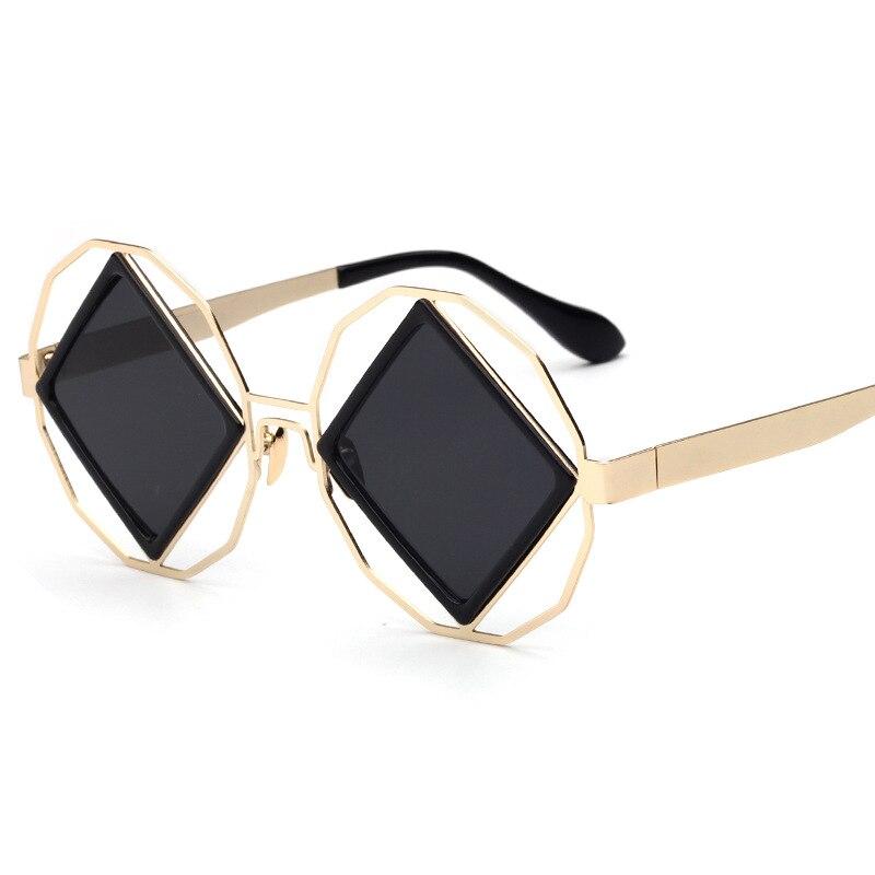 Moda Rock vapor punk metal estilo cuadrado funky Gafas de sol gafas de sol marca de lujo ojo redondo Gafas mujeres retro Sol gafas
