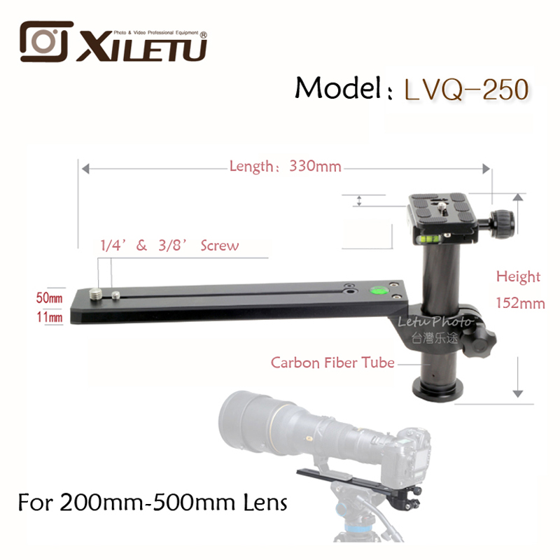 Xiletu LVQ-250 Telephoto Zoom Lens Bracket Adapter Tripod Monopods With 1/4'-3/8inch Screw Quick Release Plate 10x zoom telescope lens with tripod