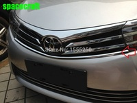 Front Grille Trims For Toyota Corolla 2014 ABS Chrome 2pcs Set Auto Exterior Accessories