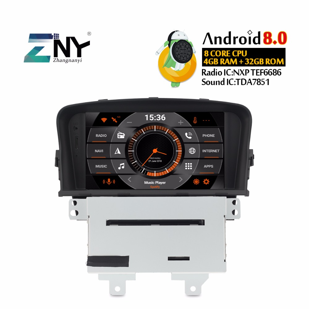 "Android 8.0 Car DVD 2 Din Auto Radio For CRUZE 2008-2012 7"" IPS Screen Multimedia Audio Video GPS Navigation Stereo Gift Camera"