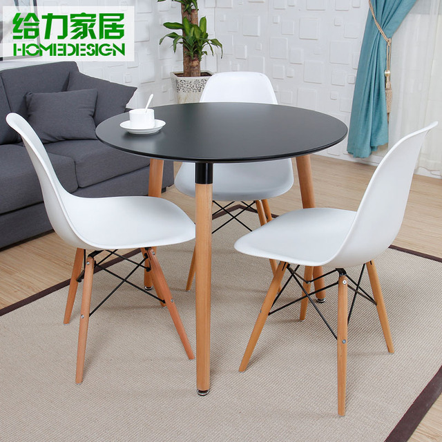 small round dining table Dessert small round dining table and chairs child fashion simple  small round dining table