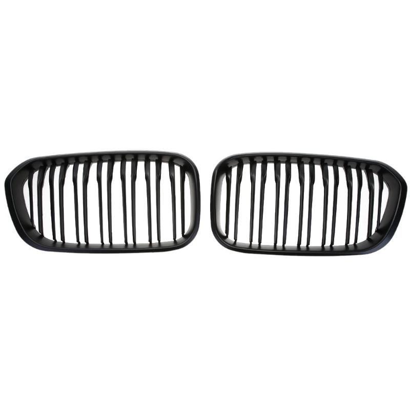 1 Pair Car Front Kidney Grille Matte Black Racing Grill for BMW 1 Series F20 F21