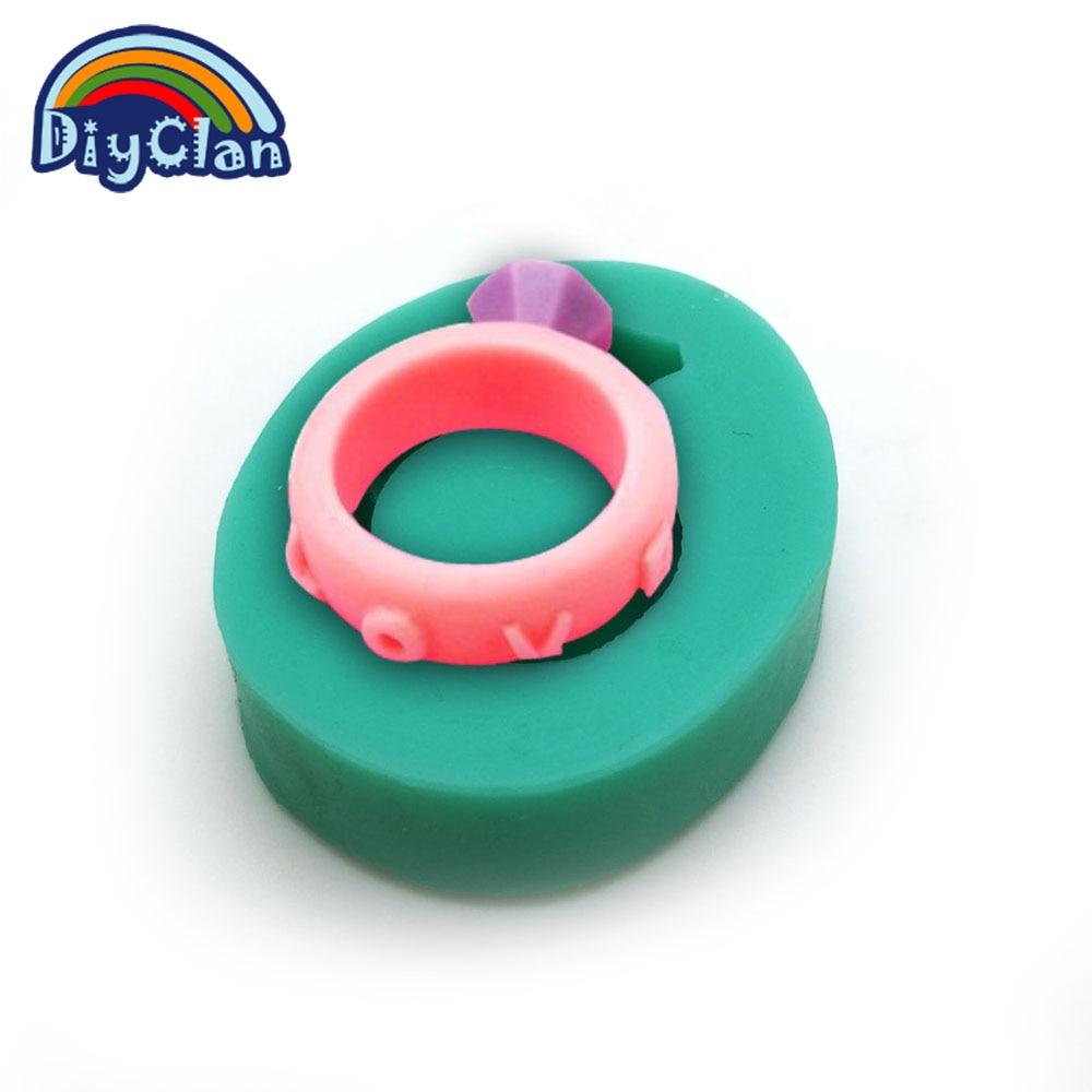 Esküvő Szilikon fondant csokoládé cupcake gyűrű penész epoxigyanta fimo forma torta díszítő polimer agyag eszköz nem szag F0030JZ35