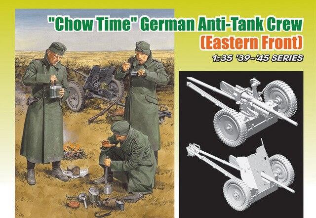 "Dragon model 6697 ""Chow Time"" German Anti-Tank Gun Crew (Eastern Front) plastic model kit"
