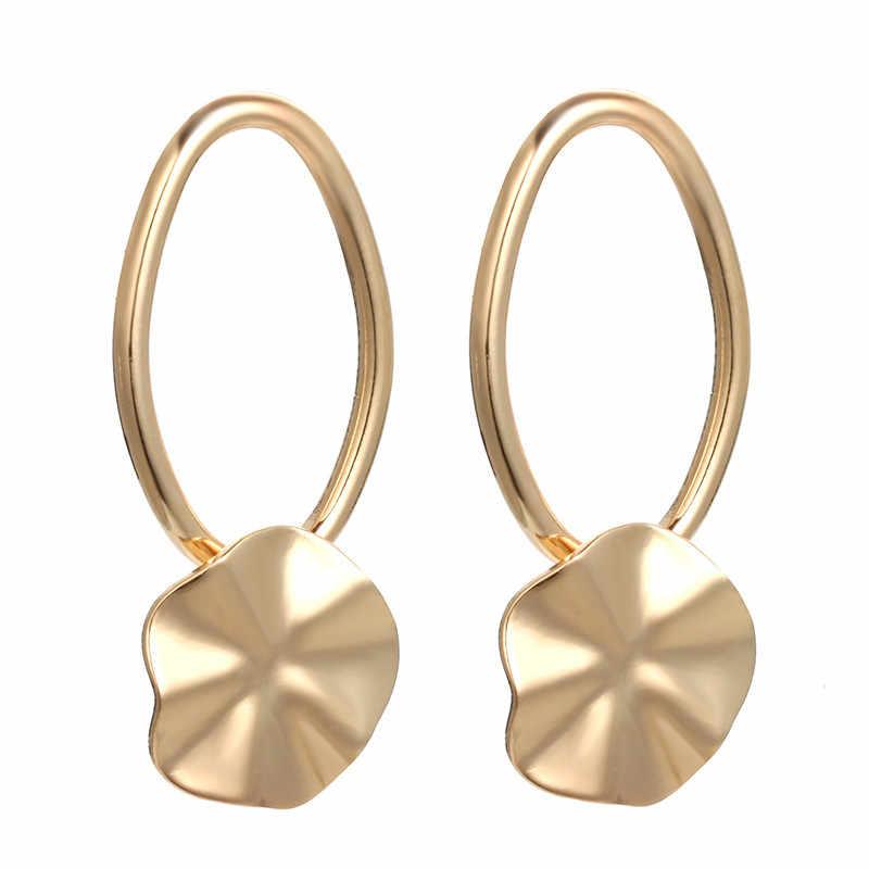 פשוט עיצוב מתכת גיאומטרי עגילים בוהמי הודי תכשיטי כסף זהב עגילים לנשים אירופאי אמריקאי Brincos