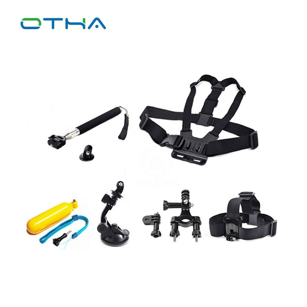 OTHA Action Sports Caméra Accessoires Kits Monopode trépied Poitrine  Ceinture Tête Mont Strap Et le selfie bâton véhicule outils 9e5e4b262535