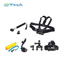 Sports Action Camera Accessories Kits Monopod tripod Chest Belt Head Mount Strap And the selfie stick vehicle tools