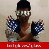 LED Luminous beads Explosive flash glove Gloves for KTV stage performances in nightclubs and bars LED luminescent glasses