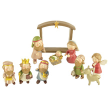 Nativity บ้านอเมริกันประเทศตกแต่งเครื่องประดับของขวัญคริสเตียนพระเยซู decor mercy พระเยซู