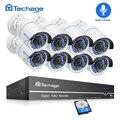 Techage 8CH 1080 P POE NVR sistema de seguridad CCTV 2MP al aire libre registro de Audio cámara IP POE de la visión nocturna IR P2P video de vigilancia Kit