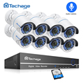 Techage 8CH 1080P HDMI POE Security Camera System 2MP NVR Kit Outdoor Audio Record CCTV POE IP Camera P2P Video Surveillance Set