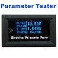 OLED 7in1 Multifunction Tester atual Tensão temperatura Tempo medidor de capacidade elétrica voltímetro Amperímetro azul fonte